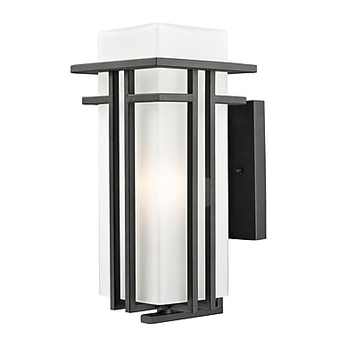 Z-Lite Abbey 1-Light Outdoor Sconce; 14.5'' H x 6.5'' W x 8.25'' D