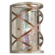 Woodbridge Braid 1-Light Wall Sconce; Iridescent