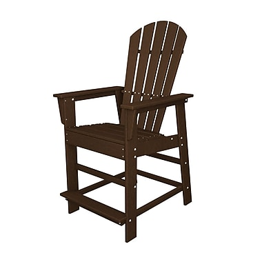 POLYWOOD South Beach 24'' Patio Bar Stool; Mahogany