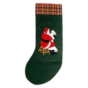 Patch Magic Santa By The Fireside Stocking