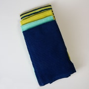Fiesta Bar Mop Towel (Set of 4); Cool Blues Stripe