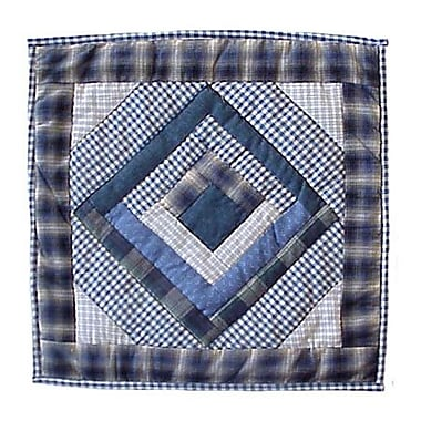 Patch Magic Log Cabin Toss Cotton Throw Pillow