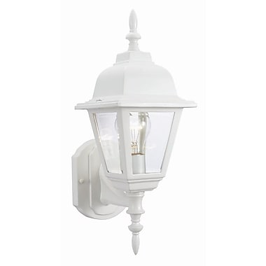 Design House Maple Street 1-Light Outdoor Sconce; White