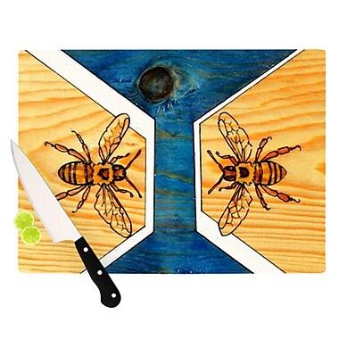 KESS InHouse Bees Cutting Board; 11.5'' H x 8.25'' W x 0.25'' D