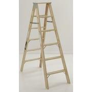 Michigan Ladder 4.13 ft Wood Step Ladder w/ 300 lb. Load Capacity