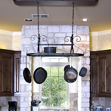 Advantage Components Ornamental Expandable Oval Hanging Pot Rack