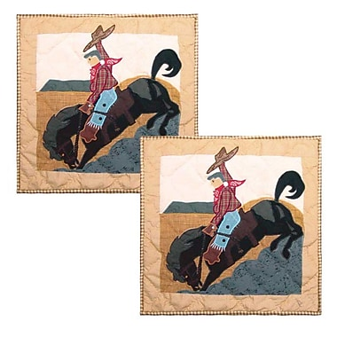 Patch Magic Brand and Rider Cotton Throw Pillow (Set of 2)