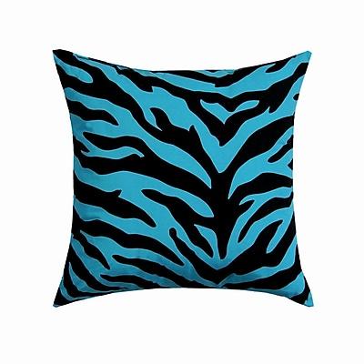 Karin Maki Zebra Square Cotton Throw Pillow