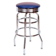 Richardson Seating Retro Home 30'' Swivel Bar Stool; Blue