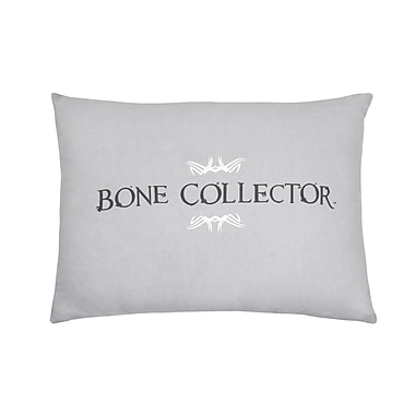Bone Collector Lumbar Pillow; Black/Grey