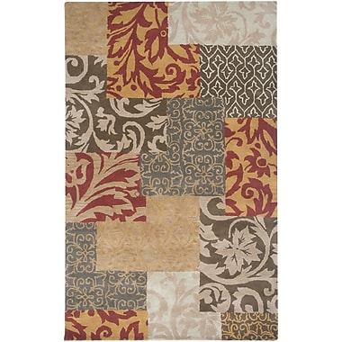 Rizzy Rugs Bentley Hand-Tufted Wool Rust Persian Area Rug; Rectangle 2' x 3'