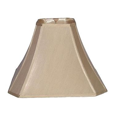 Lamp Factory 17'' Shantung Bell Lamp Shade; Beige White