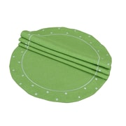 Xia Home Fashions Polka Dot Embroidered Easy Care Placemat (Set of 4); Green