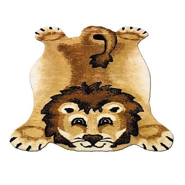 Walk On Me Lion Kids Rug; 3' x 5'
