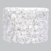 Jubilee Collection 12'' Drum Lamp Shade; White