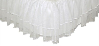 Tadpoles Triple Layer Tulle Bed Skirt; Full