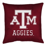 Sports Coverage NCAA Texas A&M Throw Pillow