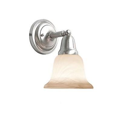 Woodbridge Hudson Glen 1-Light Bath Sconce; Satin Nickel