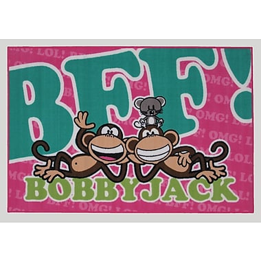 Fun Rugs Bobby Jack BFF-Text Area Rug; 1'7'' x 2'5''