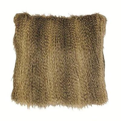 Wooded River Bandera Raccoon Faux Fur Throw Pillow