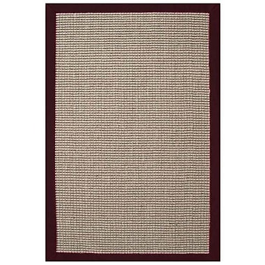 Acura Rugs Sisal Natural/Cherry Rug; 5' x 8'