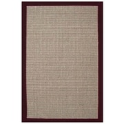 Acura Rugs Sisal Natural/Cherry Rug; 8' x 10'
