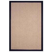 Acura Rugs Sisal Natural/Black Rug; 5' x 8'