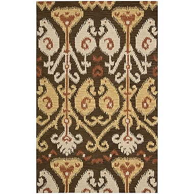 Nourison Siam Hand-Tufted Chocolate Area Rug; 3'6'' x 5'6''