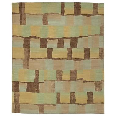 Artisan Carpets Designers' Reserve Green/Brown Area Rug; 3' x 5'