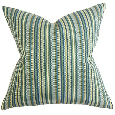 The Pillow Collection Dafydd Stripes Throw Pillow; 20'' x 20''