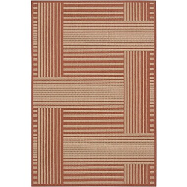 Chandra Ryan Red Geometric Indoor/Outdoor Area Rug; 5' x 8'