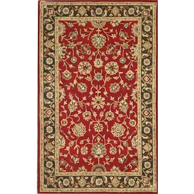 MOTI Rugs Jasmine Red Rug; 5' x 8'