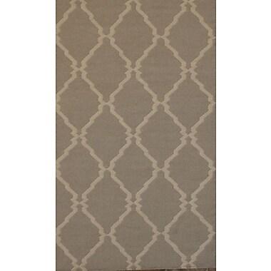 MOTI Rugs Flat Weave Brown Area Rug; 5' x 8'
