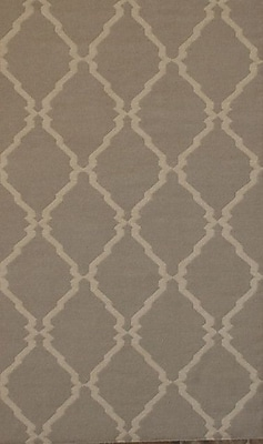 MOTI Rugs Flat Weave Brown Area Rug; Rectangle 5' x 8'