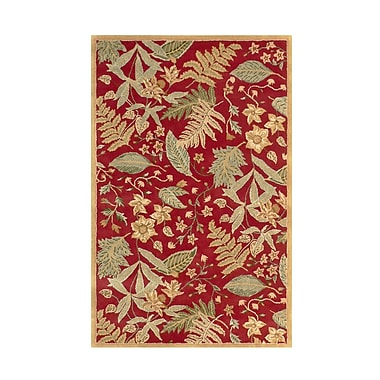 MOTI Rugs Fabio Red Floral Area Rug; Rectangle 8' x 11'