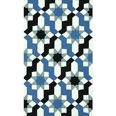 nuLOOM Serendipity Blue Metro Ikat Area Rug; 7'6'' x 9'6''