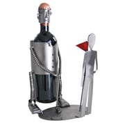 H & K SCULPTURES Golf Putting Caddy 1 Bottle Tabletop Wine Rack
