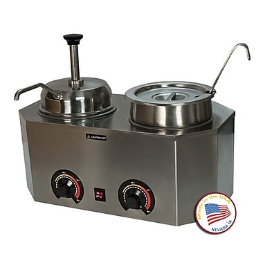 Paragon International Pro-Deluxe Dual Warmer w/ Ladle and Pump