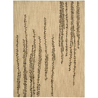 Nourison Radiant Impressions Hand-Woven Wool Beige Indoor Area Rug; 9'6'' x 13'6''