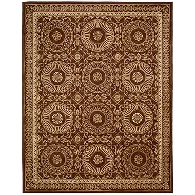 Nourison Versailles Palace Hand-Tufted Brick Area Rug; 5'3'' x 8'3''