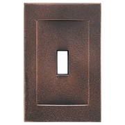 RQ Home Single Toggle Magnetic Wall Plate; Oil Rubbed Bronze