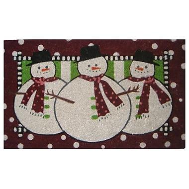 Imports Decor Creel Three Snow Men Doormat; Rectangle 18'' x 30''