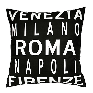 Uptown Artworks Roma Italy Throw Pillow