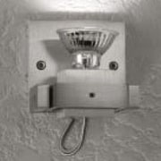 LumenArt Alume 1-Light Armed Sconce; Without Aluminum Square Junction Box Cover