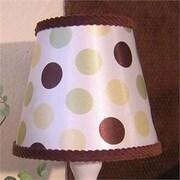 Brandee Danielle Ash 8'' Fabric Empire Lamp Shade; Green and Yellow