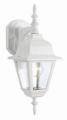 Design House Maple Street 1-Light Outdoor Wall Lantern; White