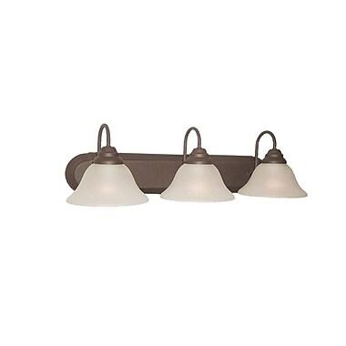 Woodbridge Basic 3-Light Vanity Light; Marbled Bronze