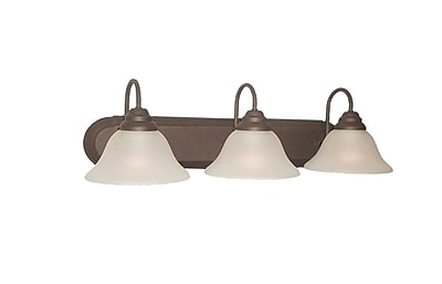 Woodbridge Basic 3-Light Vanity Light; Marbled Bronze