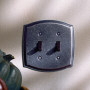 Baldwin Colonial Design Double Toggle Switch Plate; Venetian Bronze