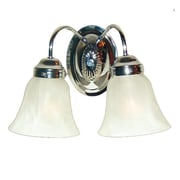 Woodbridge Ridgemont 2-Light Vanity Light; Chrome